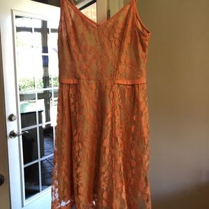 Lush Salmon Lace Dress size medium